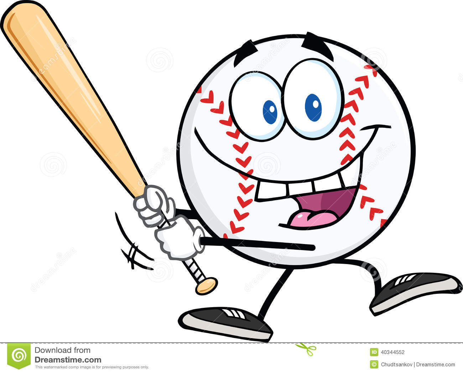 baseball ball and bat cartoon clip art stock vector illustration rh dreamstime com baseball bat hitting ball clipart baseball player hitting ball clipart