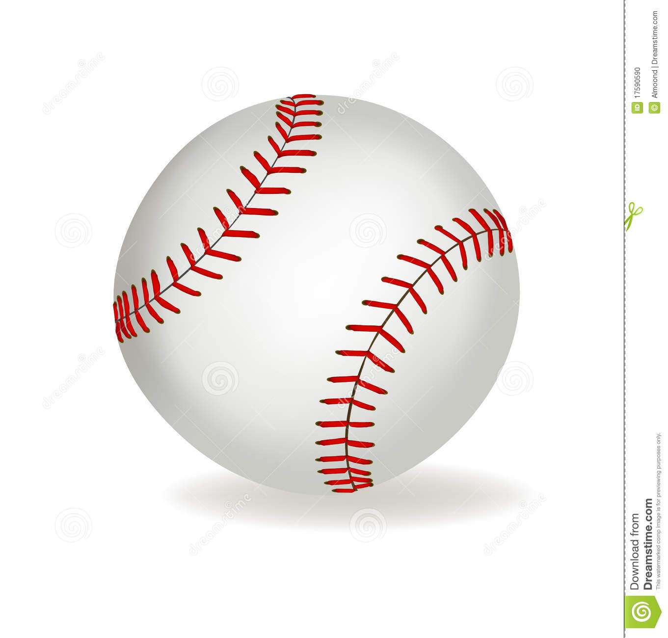 Baseball Ball On A White Background. Vector. Stock Photo - Image ...