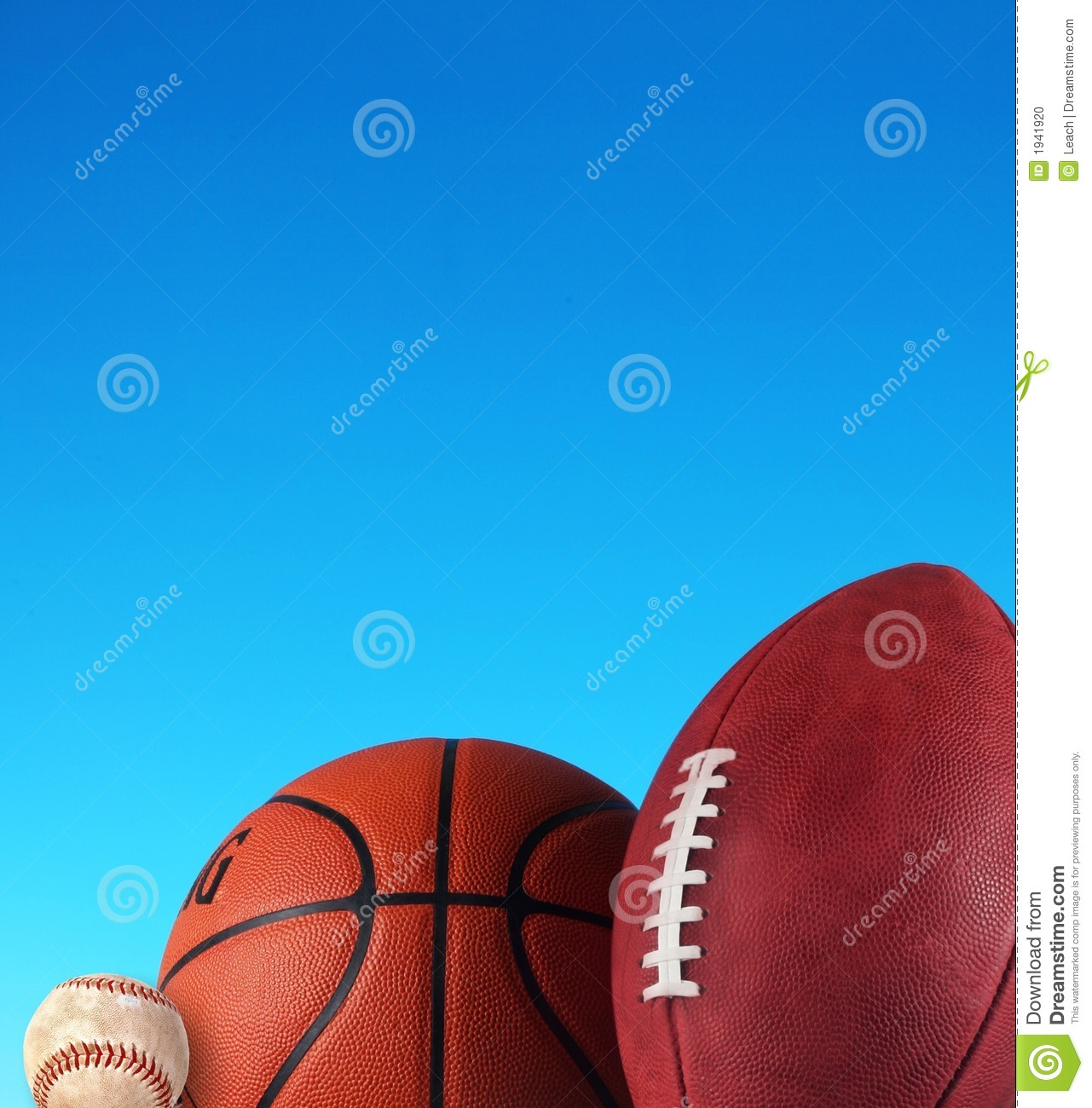 baseball  basketball  football stock photo