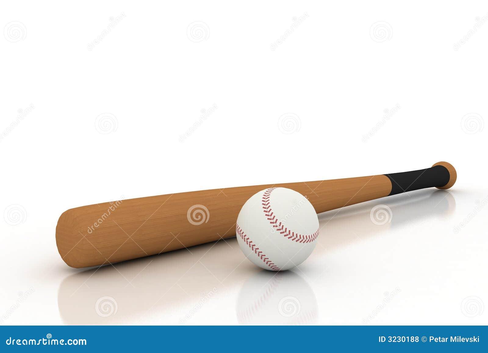 Baseball Bat And Ball On White Royalty Free Stock Photos ...