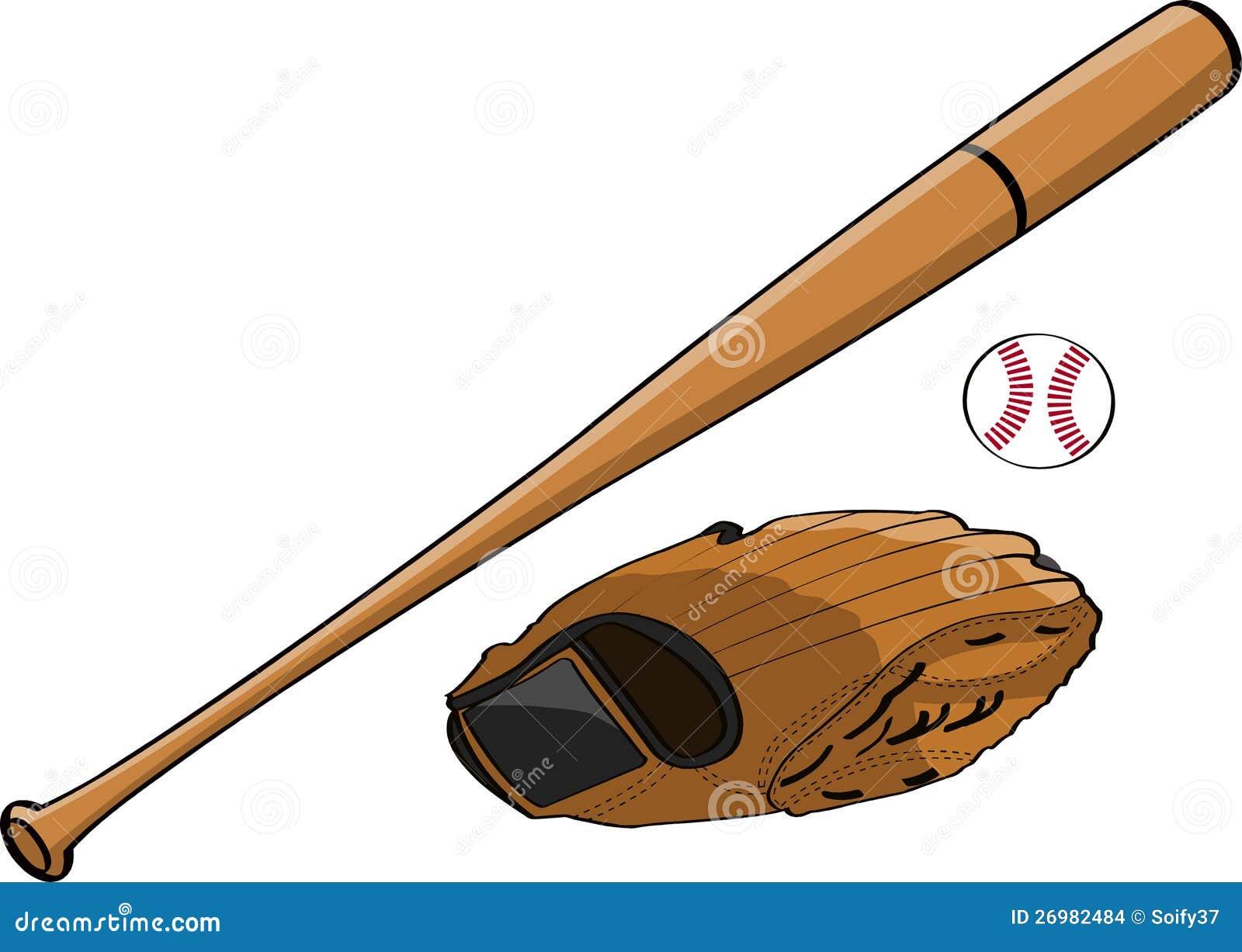 Baseball Bat, Glove And Ball Stock Illustration ...