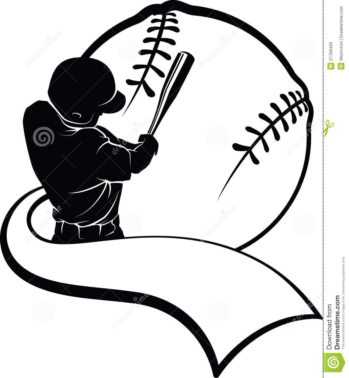 silhouetted baseball batter hitting in front of a stylized baseball ...