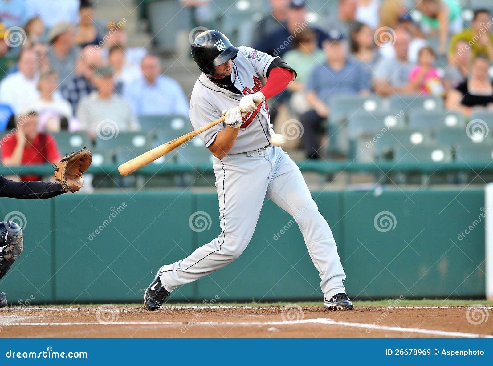 Baseball batters swinging