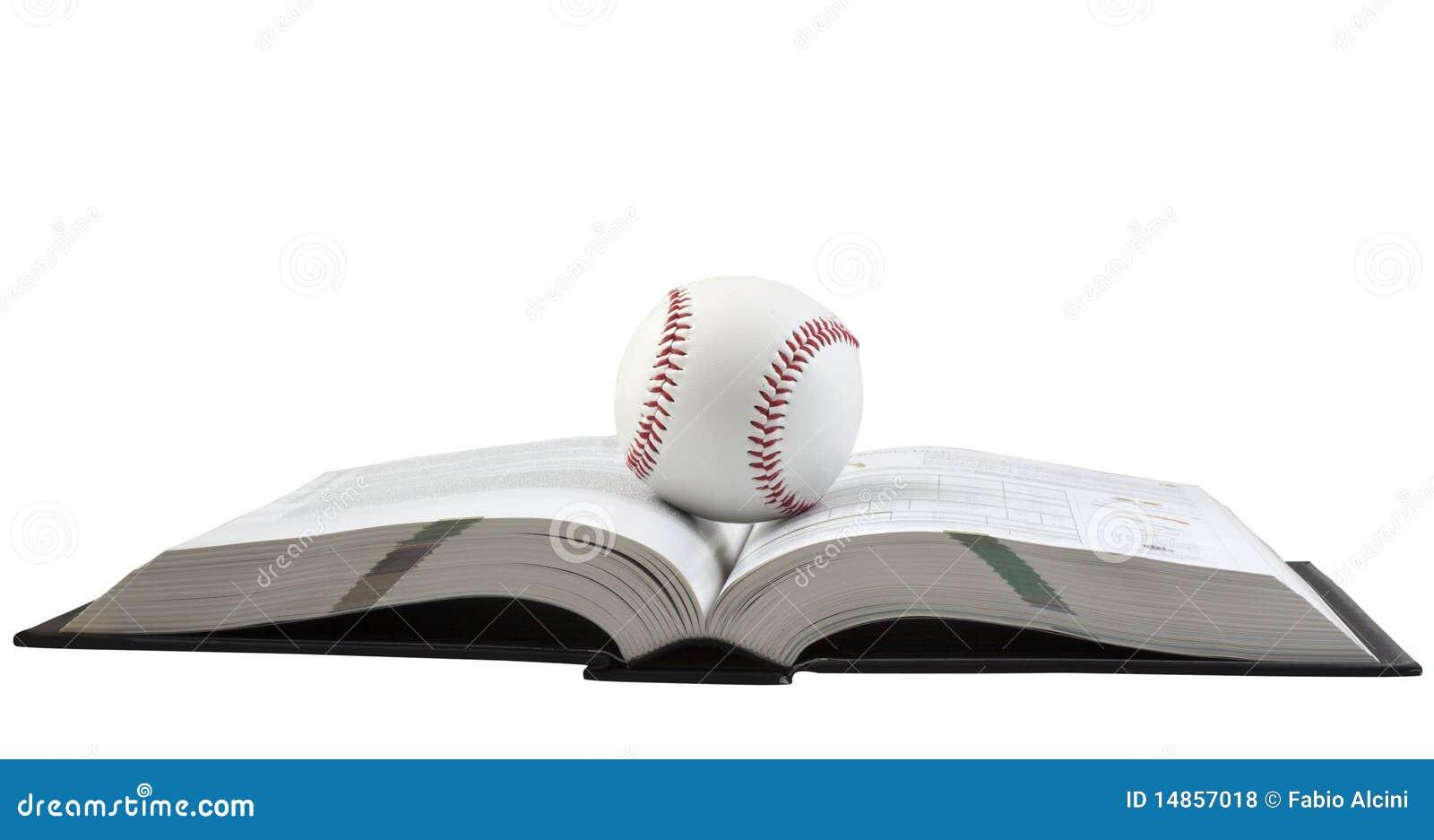 Baseball on book