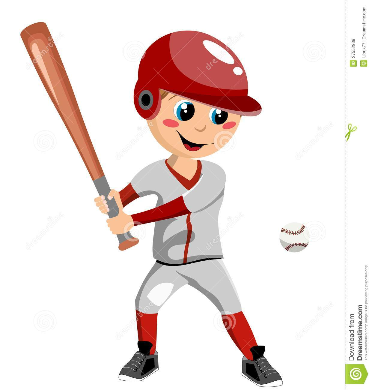 cartoon boy playing baseball clip art on birthday cake for boy images