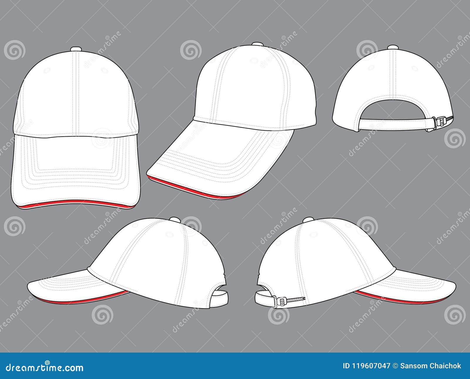 baseball cap for template stock illustration illustration of
