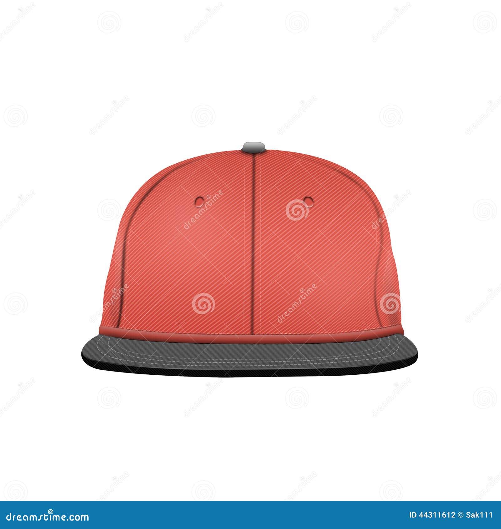 baseball cap template on white background stock illustration