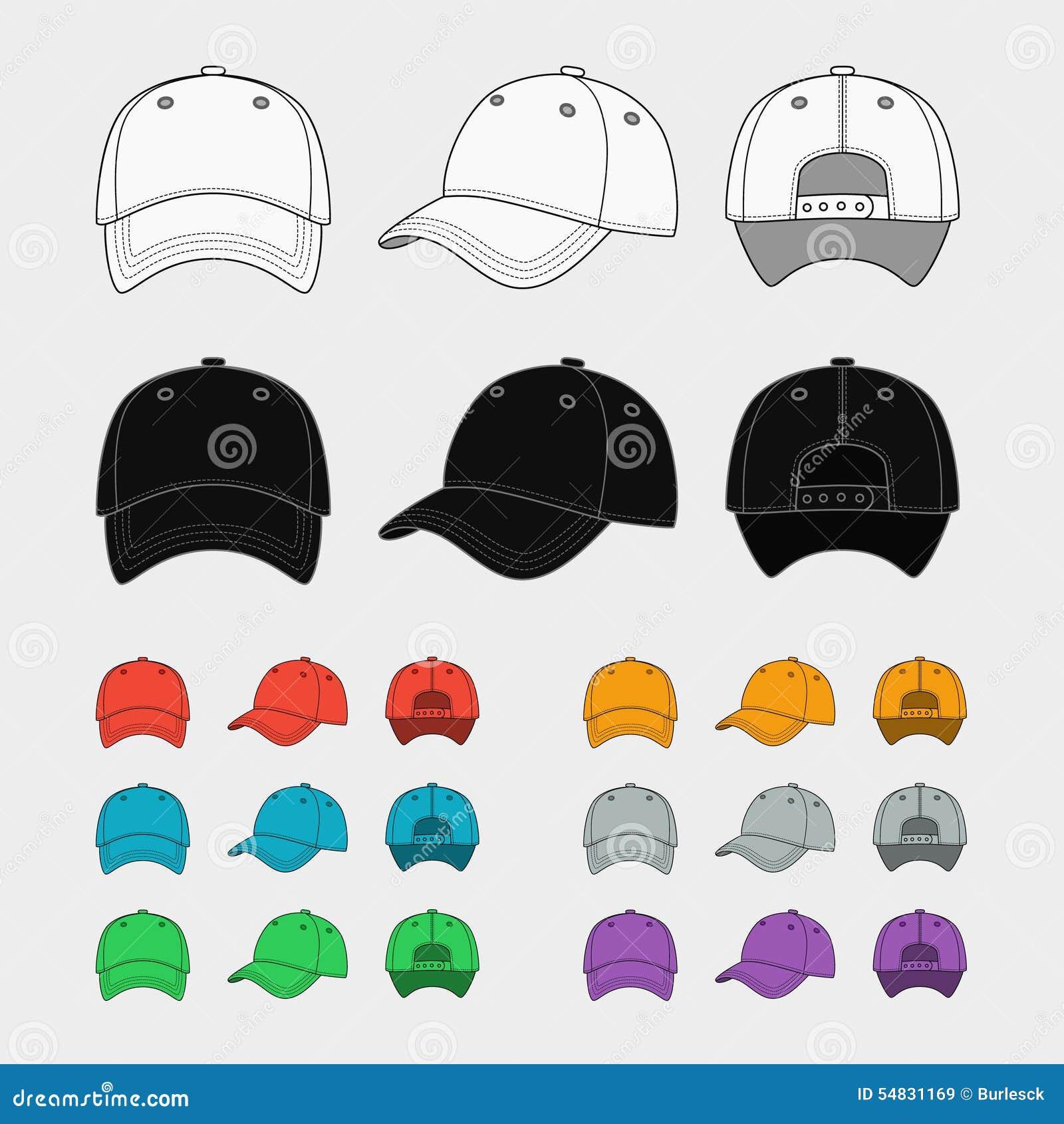 Baseball Cap Vector Template Stock Vector Image 54831169