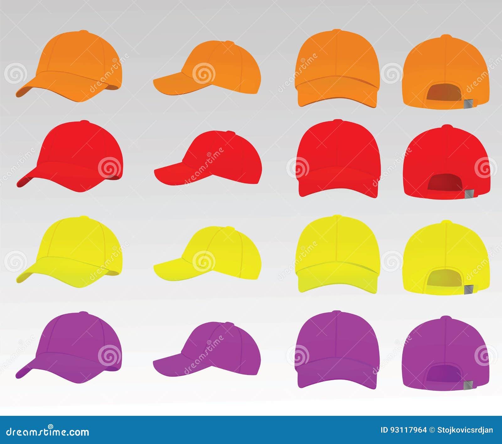 c79eb63a Baseball caps stock vector. Illustration of head, light - 93117964