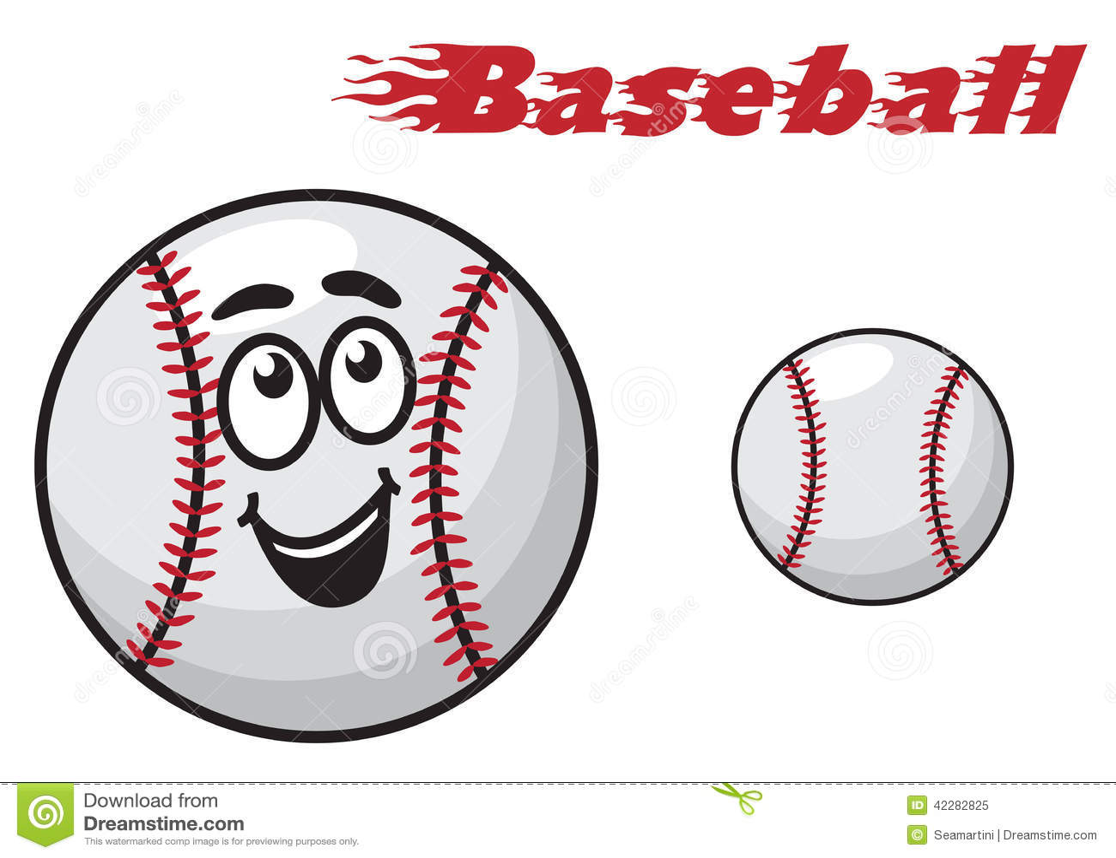 baseball cartoon ball stock vector illustration of base 42282825