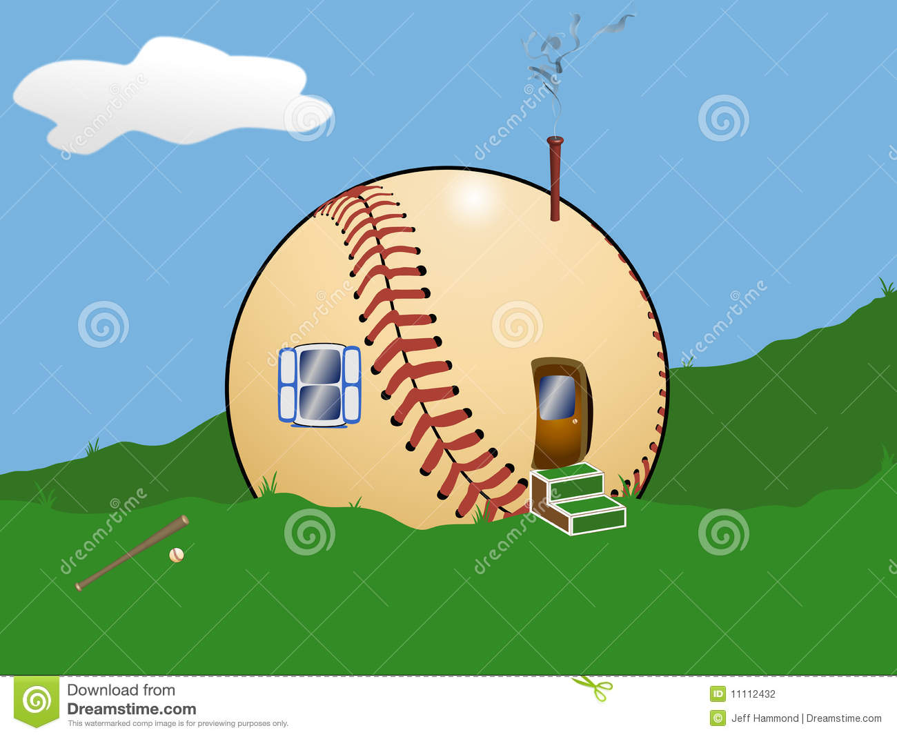 Image result for baseball and a house