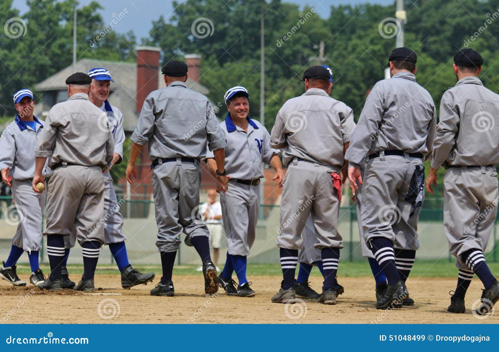 Baseball ceremonial handshake