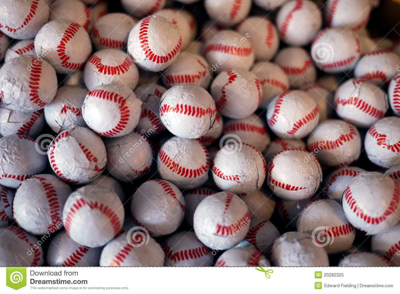 baseball chocolate candies texture background royalty free