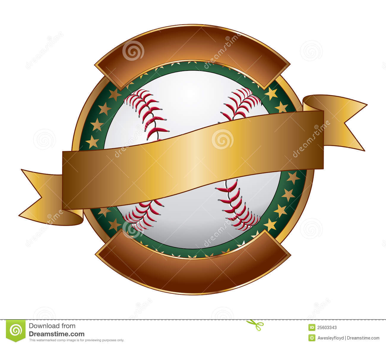Baseball Design Template Ribbon Stock Photos - Image: 25603343
