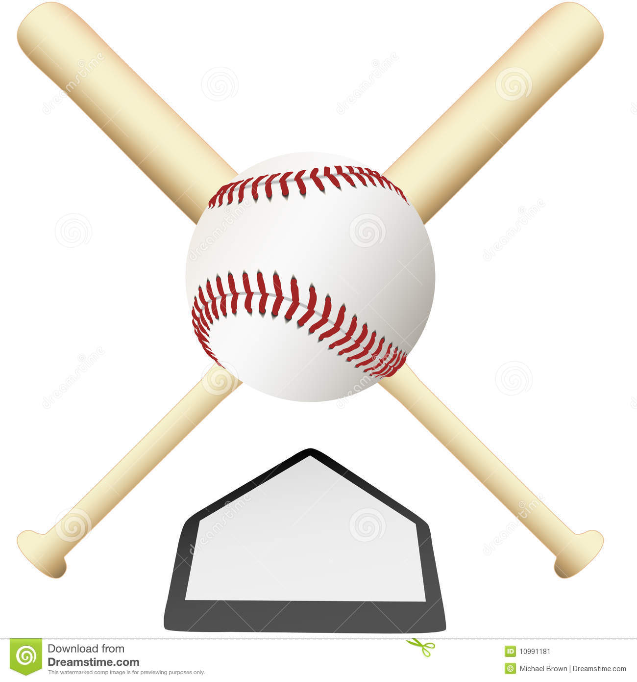 Crossed Baseball Bats Stock Images - Image: 5827354