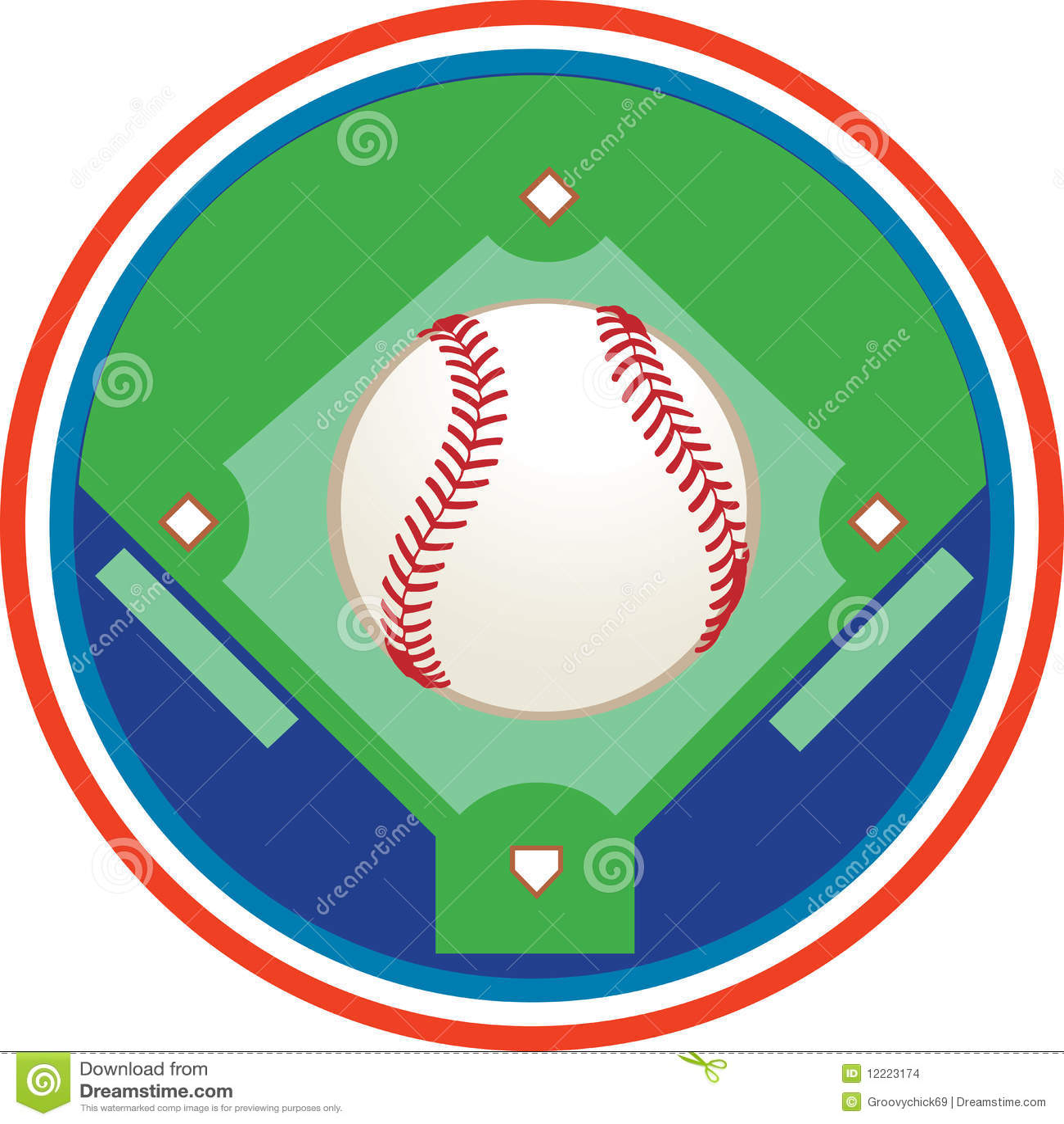 Baseball Field Clipart A baseball field