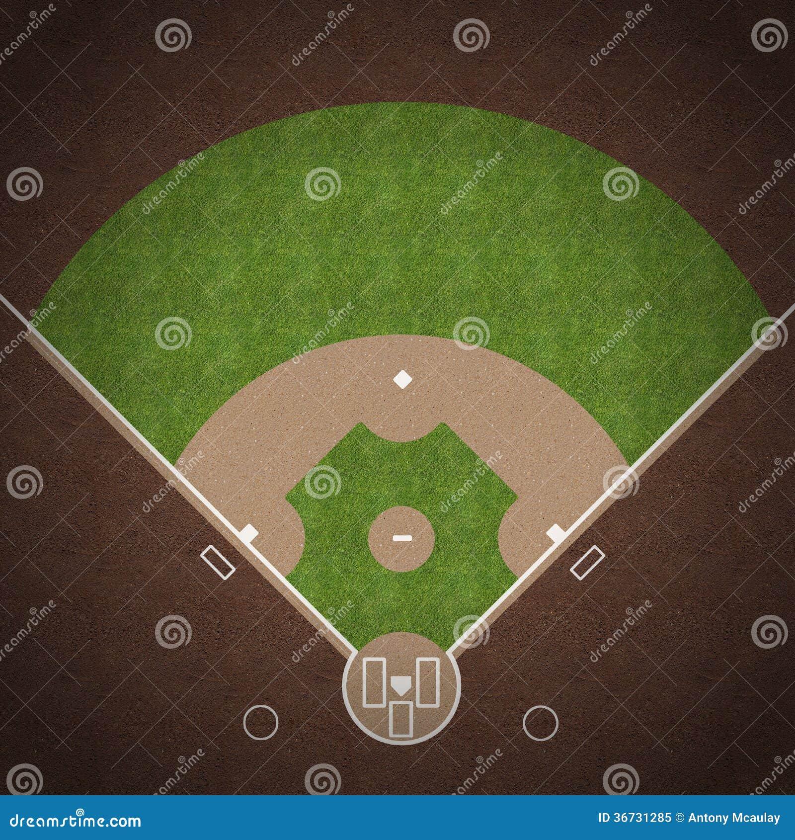 Baseball Field stock illustration Image of    dirt     overhead