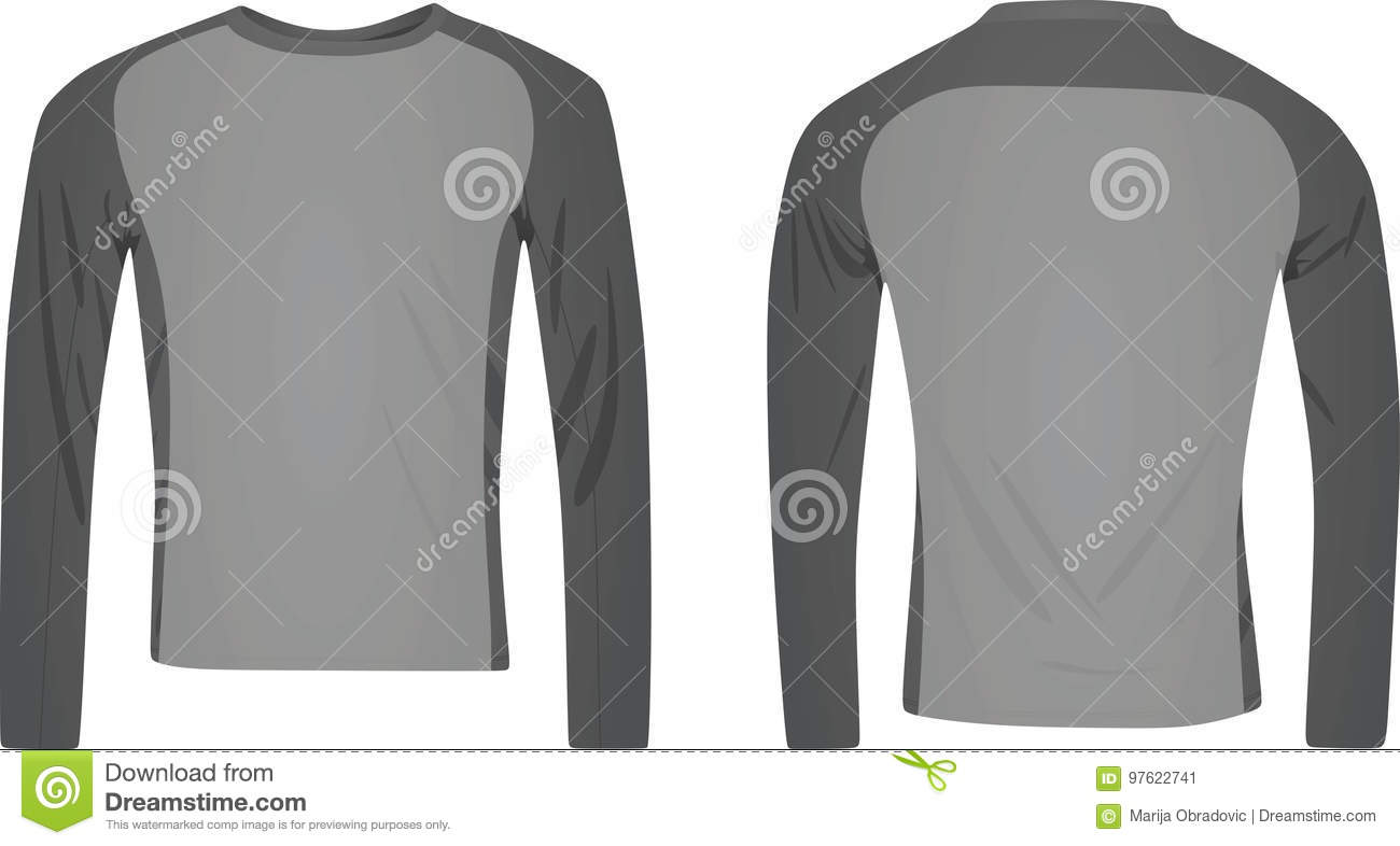 Long Sleeve Two Color T Shirt Stock Vector - Illustration of empty ... 6b239098204
