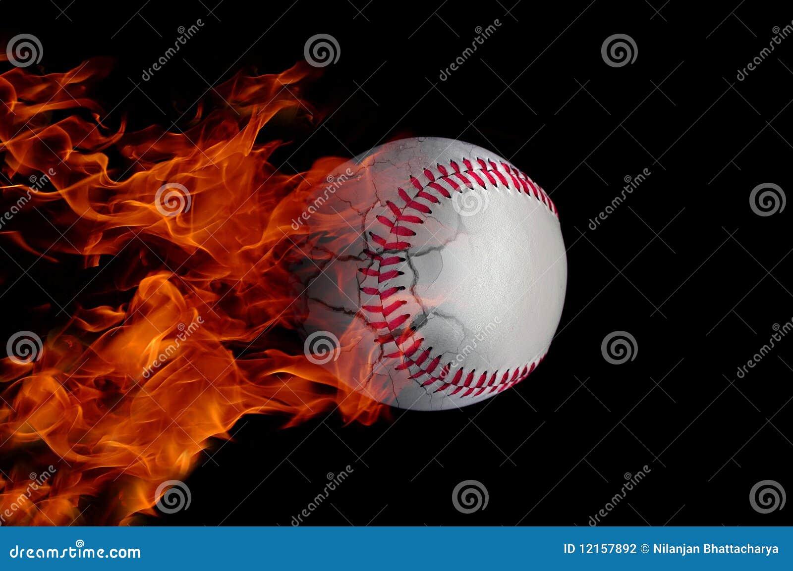 Baseballs on fire