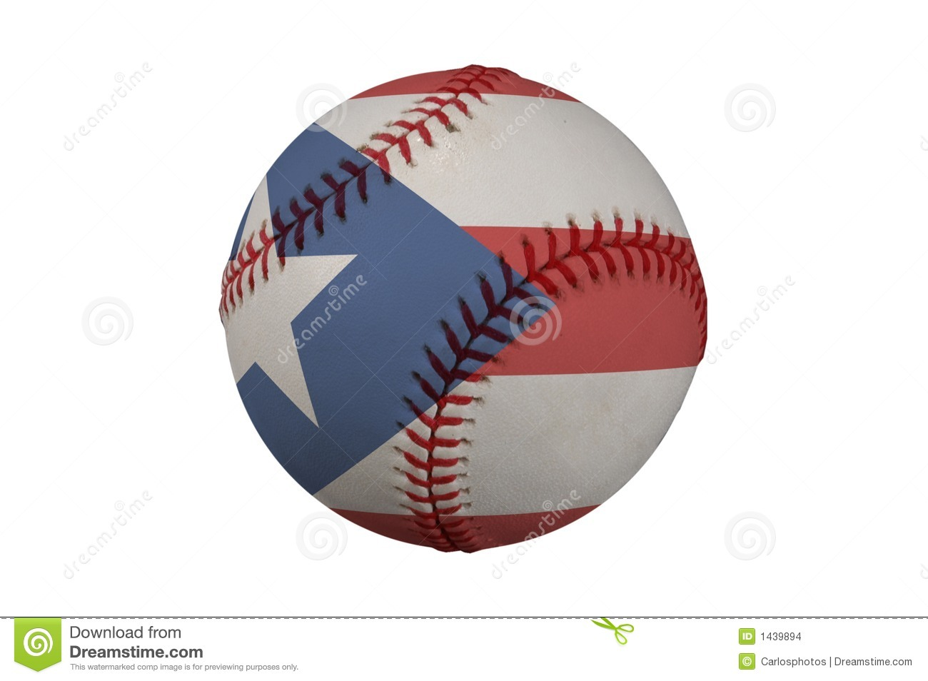 Baseball with the flag of puerto rico stock illustration baseball with the flag of puerto rico biocorpaavc Choice Image