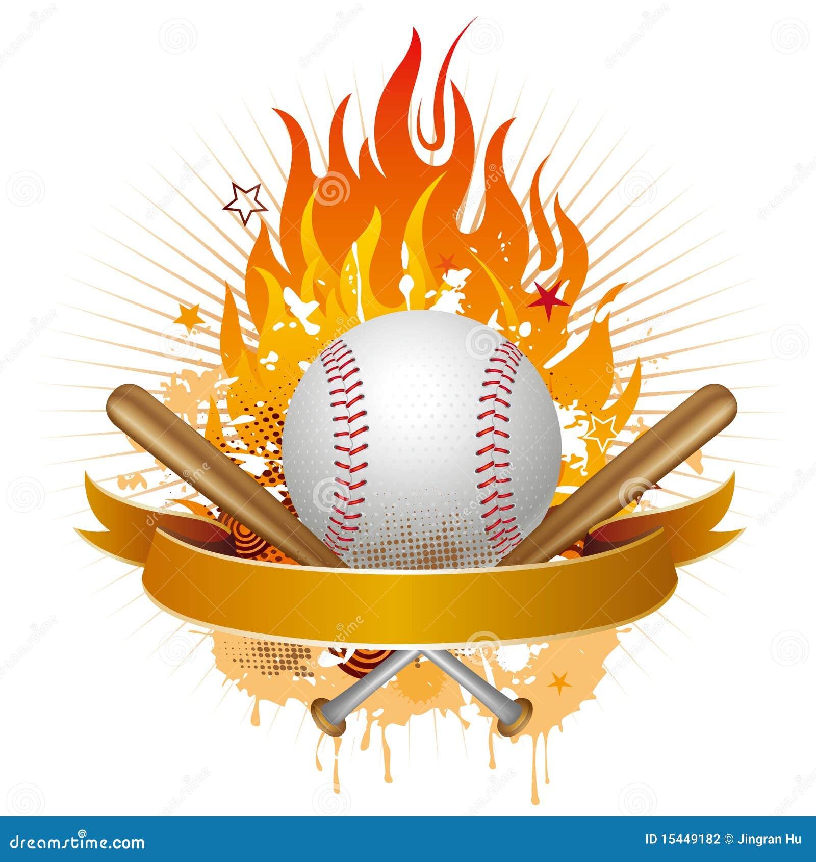 Baseball With Flames Stock Photography Image 15449182