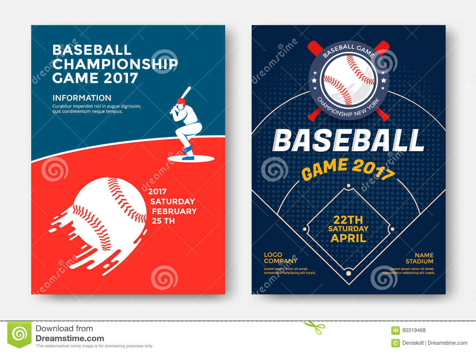 baseball game poster stock vector illustration of logo 90319468