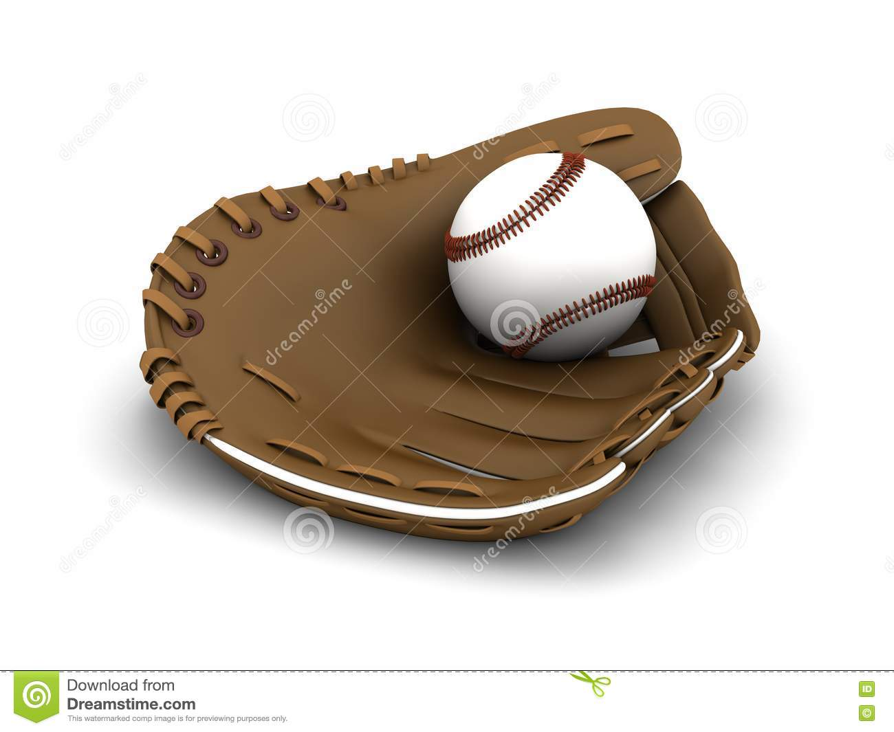Baseball And Glove Royalty Free Stock Image - Image: 19435596