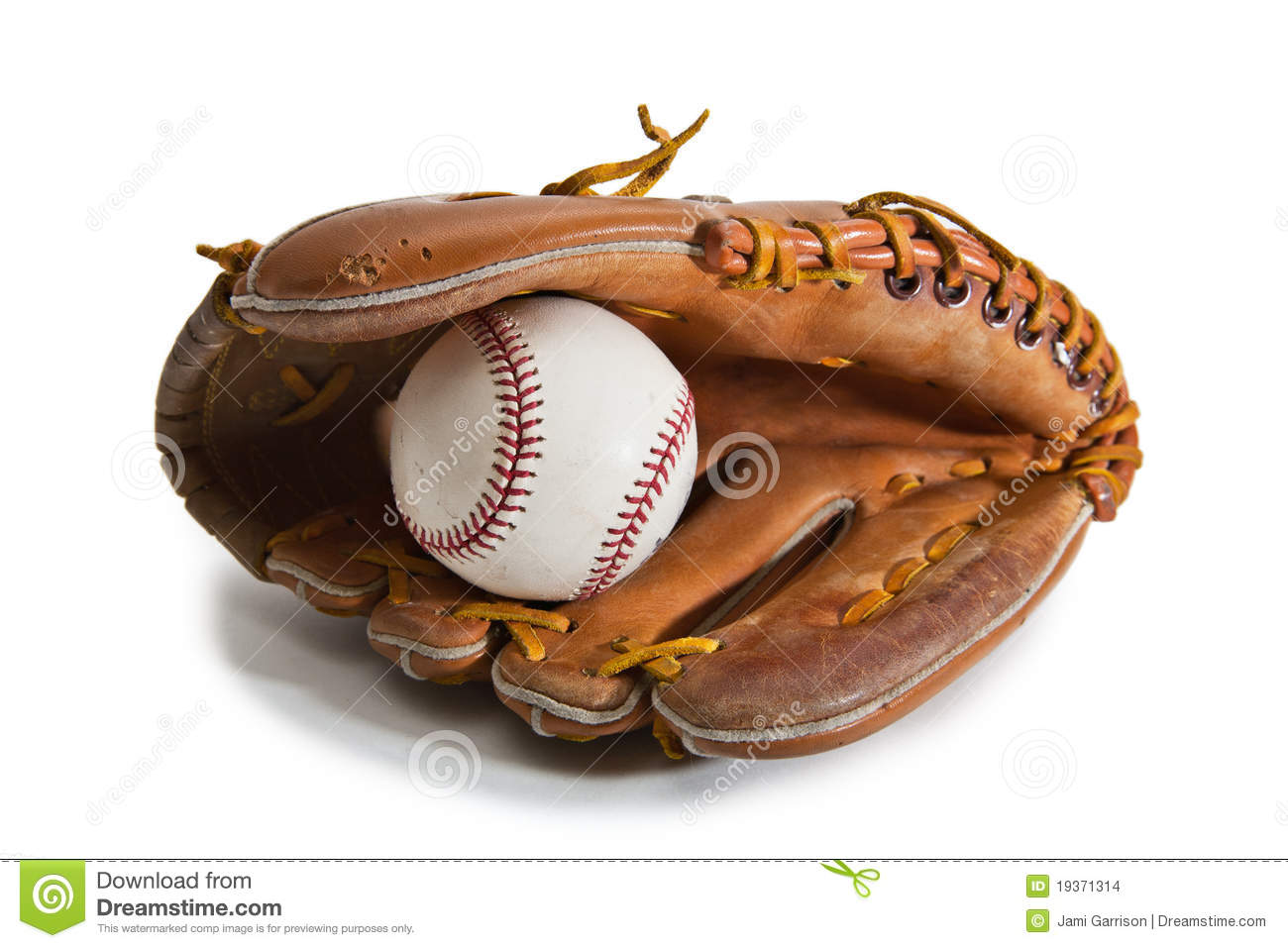 Baseball Glove and Ball stock photo. Image of play, child ...