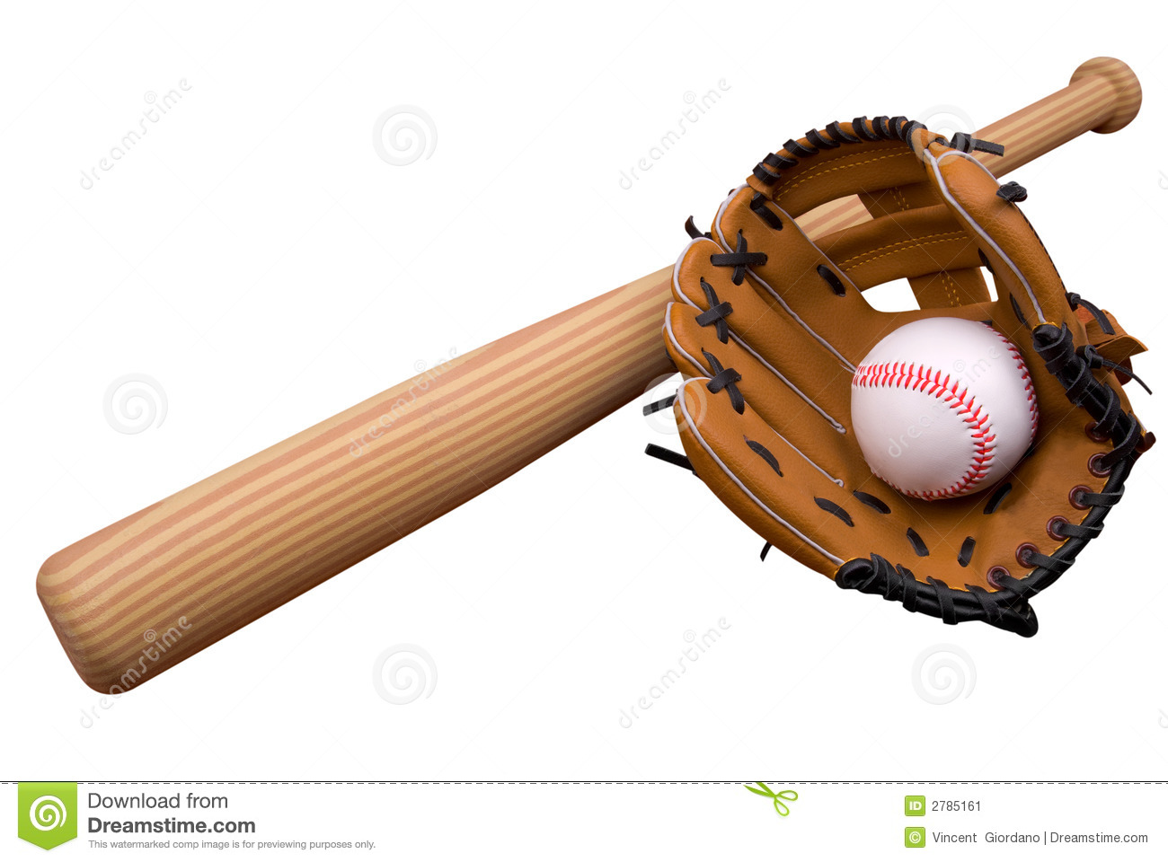 Baseball Glove,bat And Ball On Stock Image - Image: 2785161