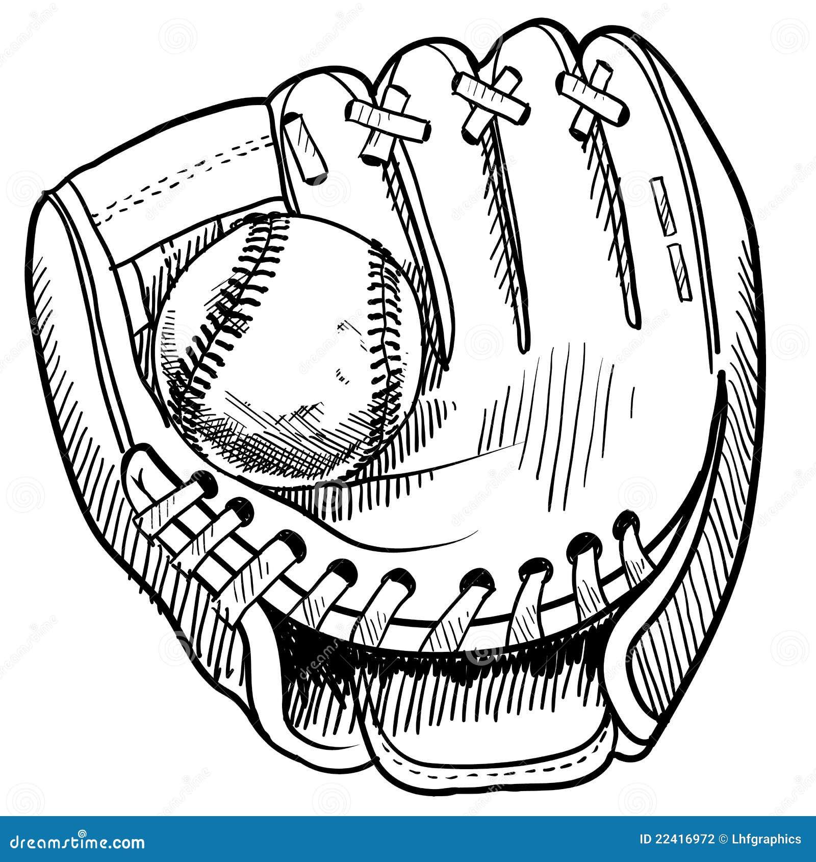 Baseball Glove Drawing Stock Photography Image 22416972