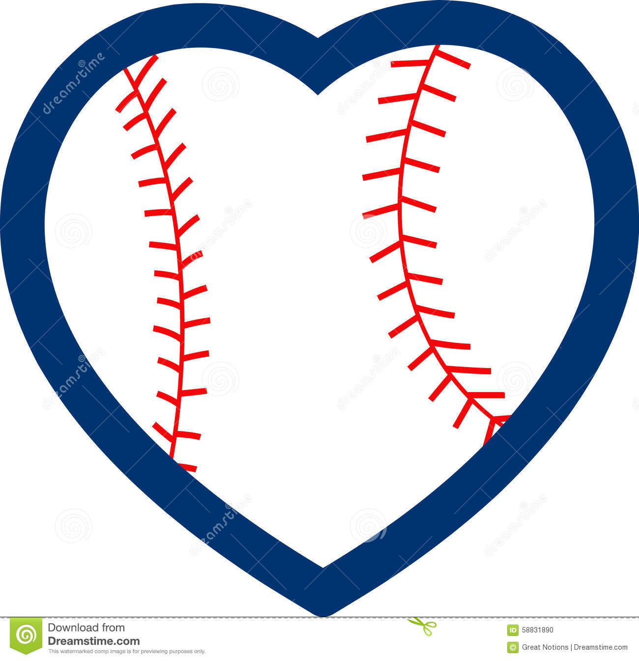 Stock Photo: BASEBALL HEART. Image: 58831890