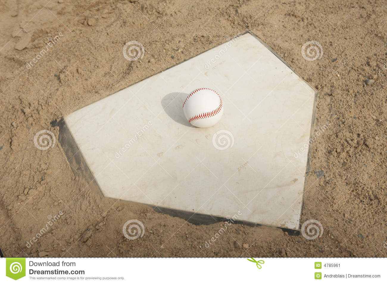 home plate with glove and baseball royalty free stock photo