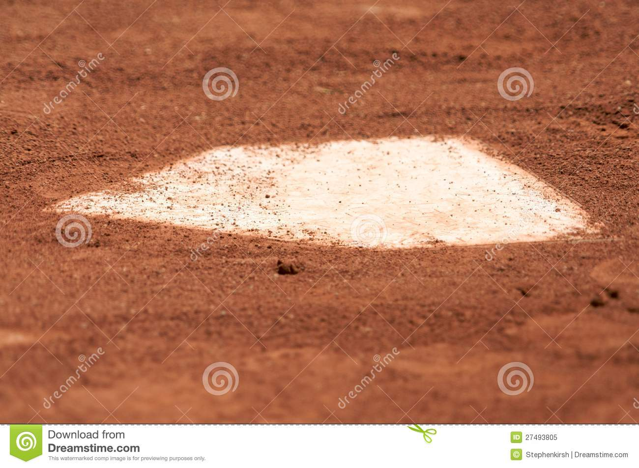 a baseball home plate is surrounded by dirt royalty free stock