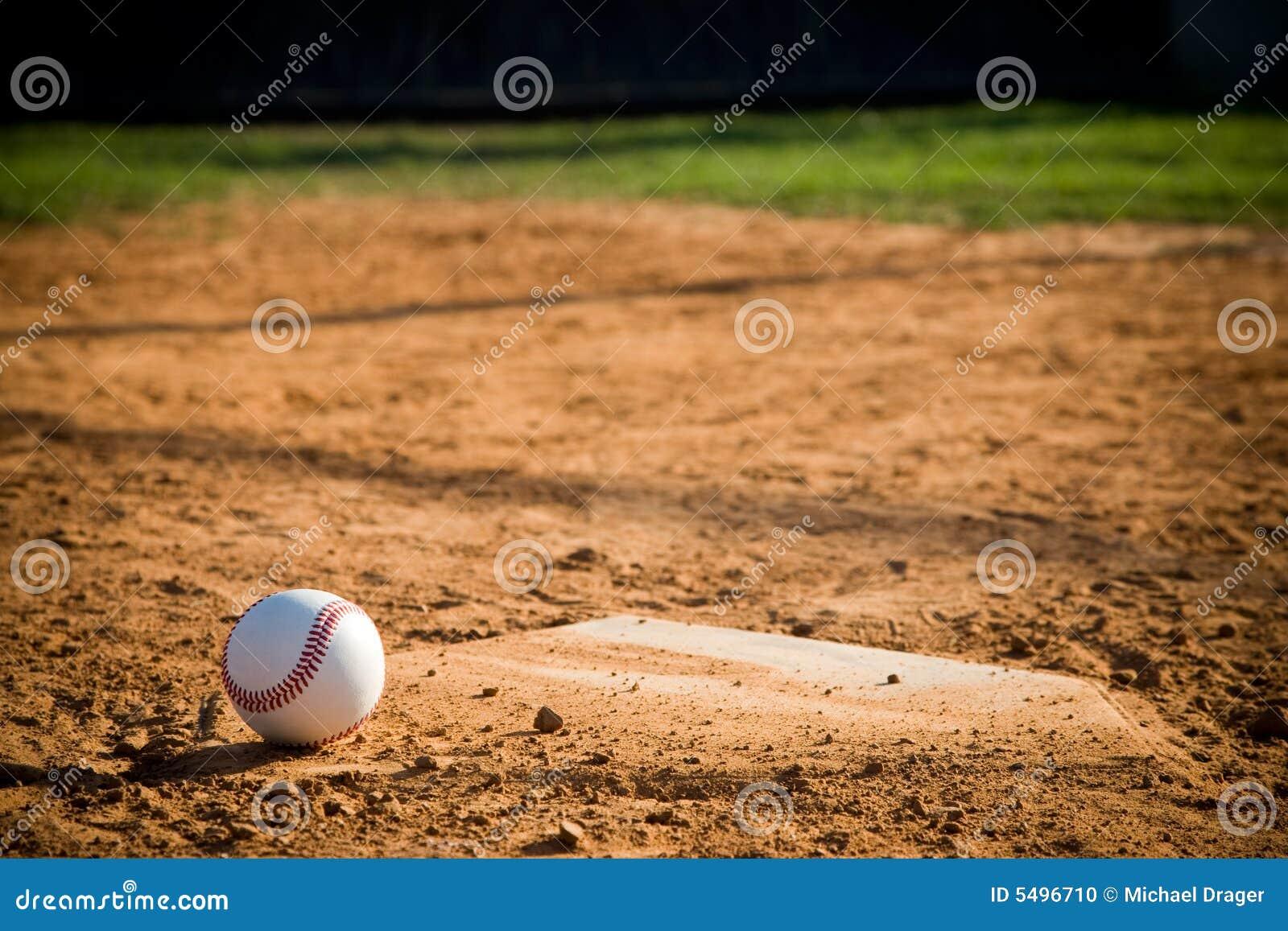 baseball homeplate with baseball on it stock photo image 5496710