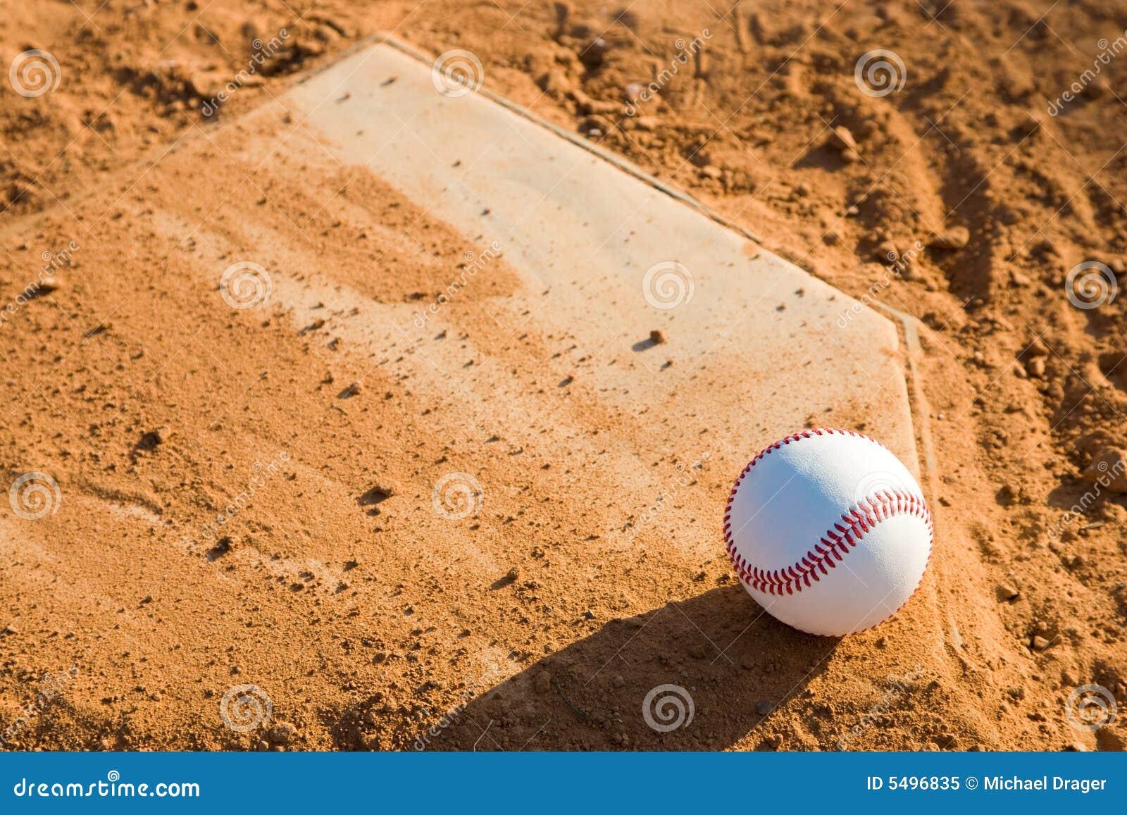 Baseball Homeplate With Baseball On It Stock Image - Image ...