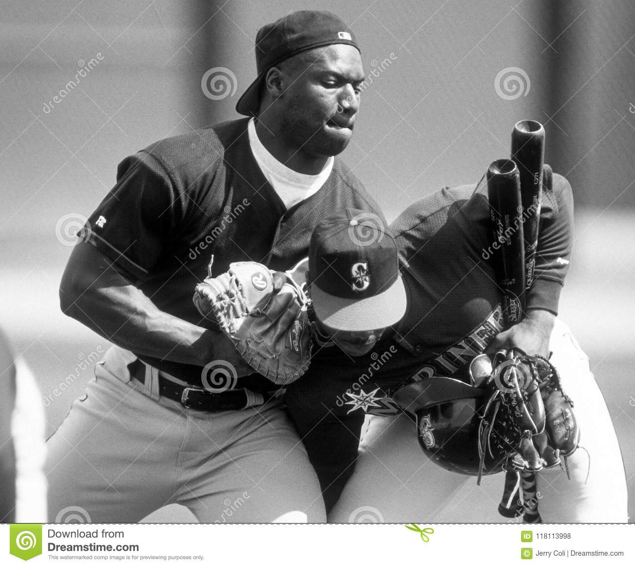62e6fa9996 Baseball Legends Bo Jackson And Ken Griffey, Jr. Editorial Stock ...