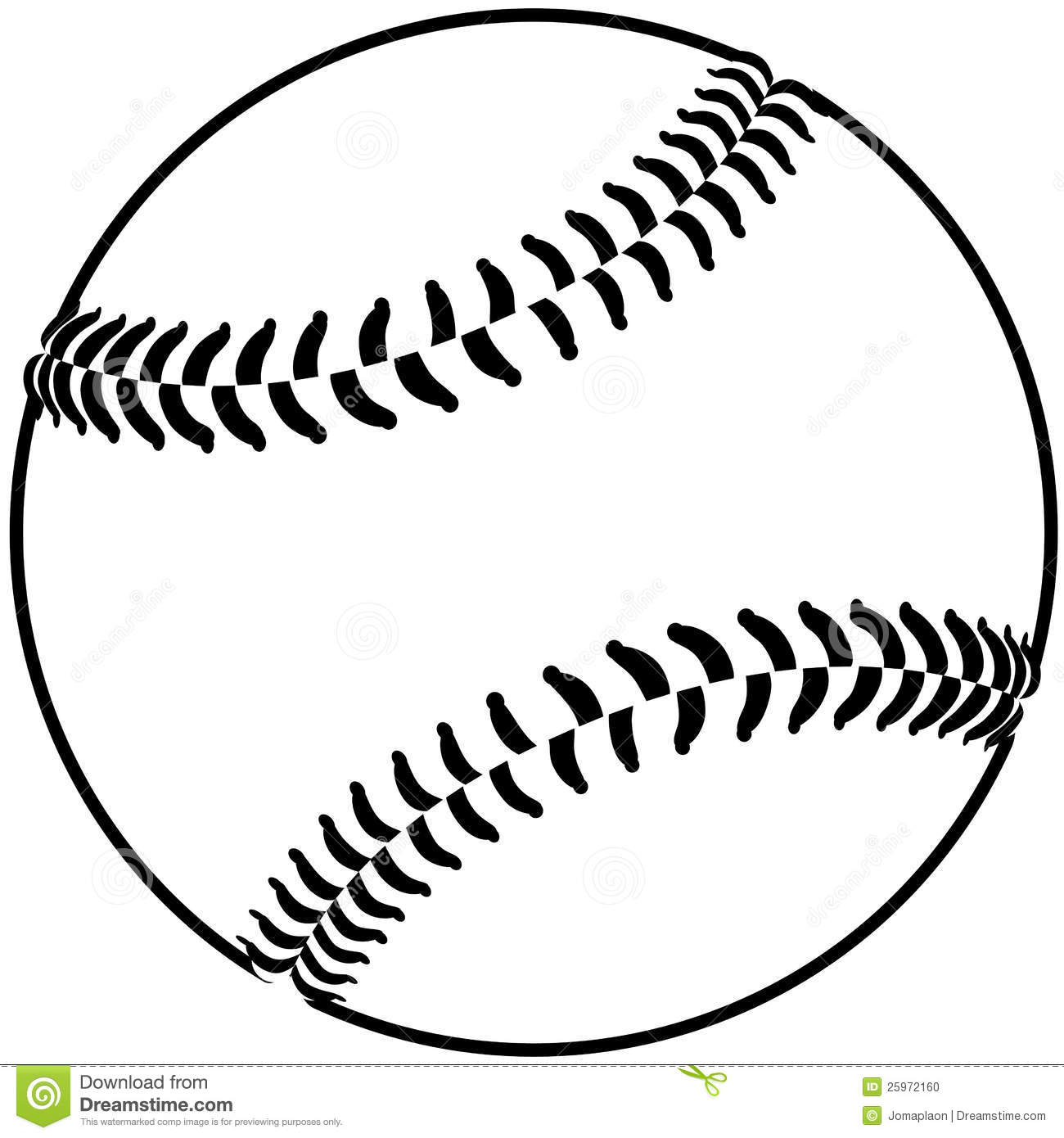 Baseball Outline Stock Photo - Image: 25972160