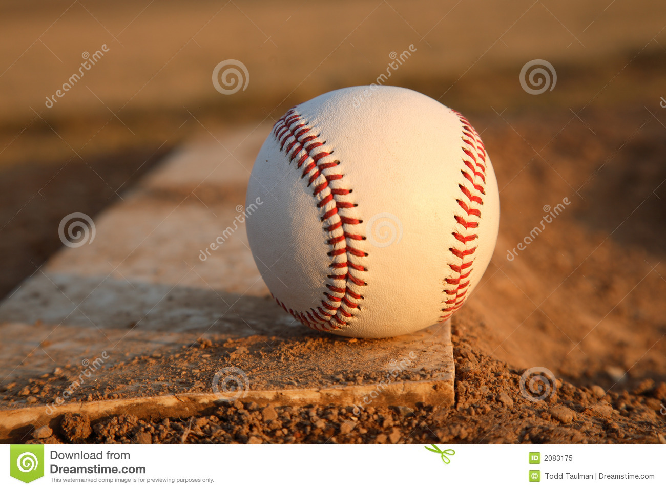 Baseball On Pitchers Mound Rubber Royalty Free Stock Photo - Image ...