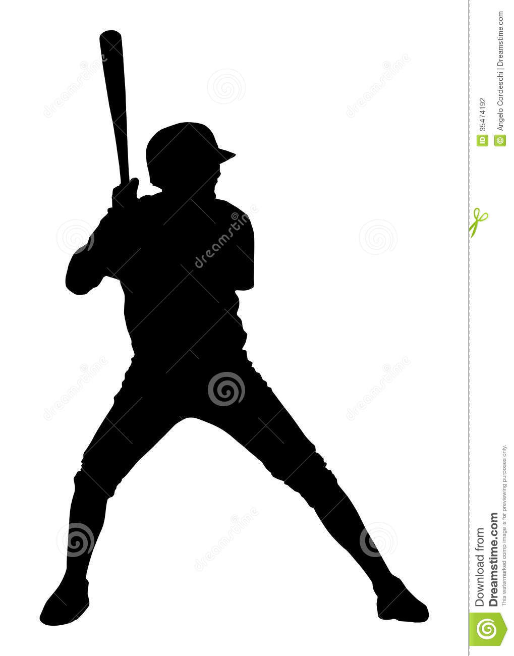 Baseball batter silhouettes Stock Photos and Images 556