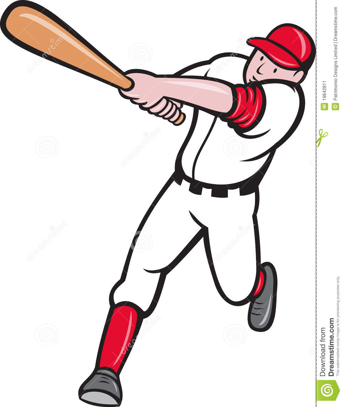 6834 Baseball Player Cliparts Stock Vector And Royalty