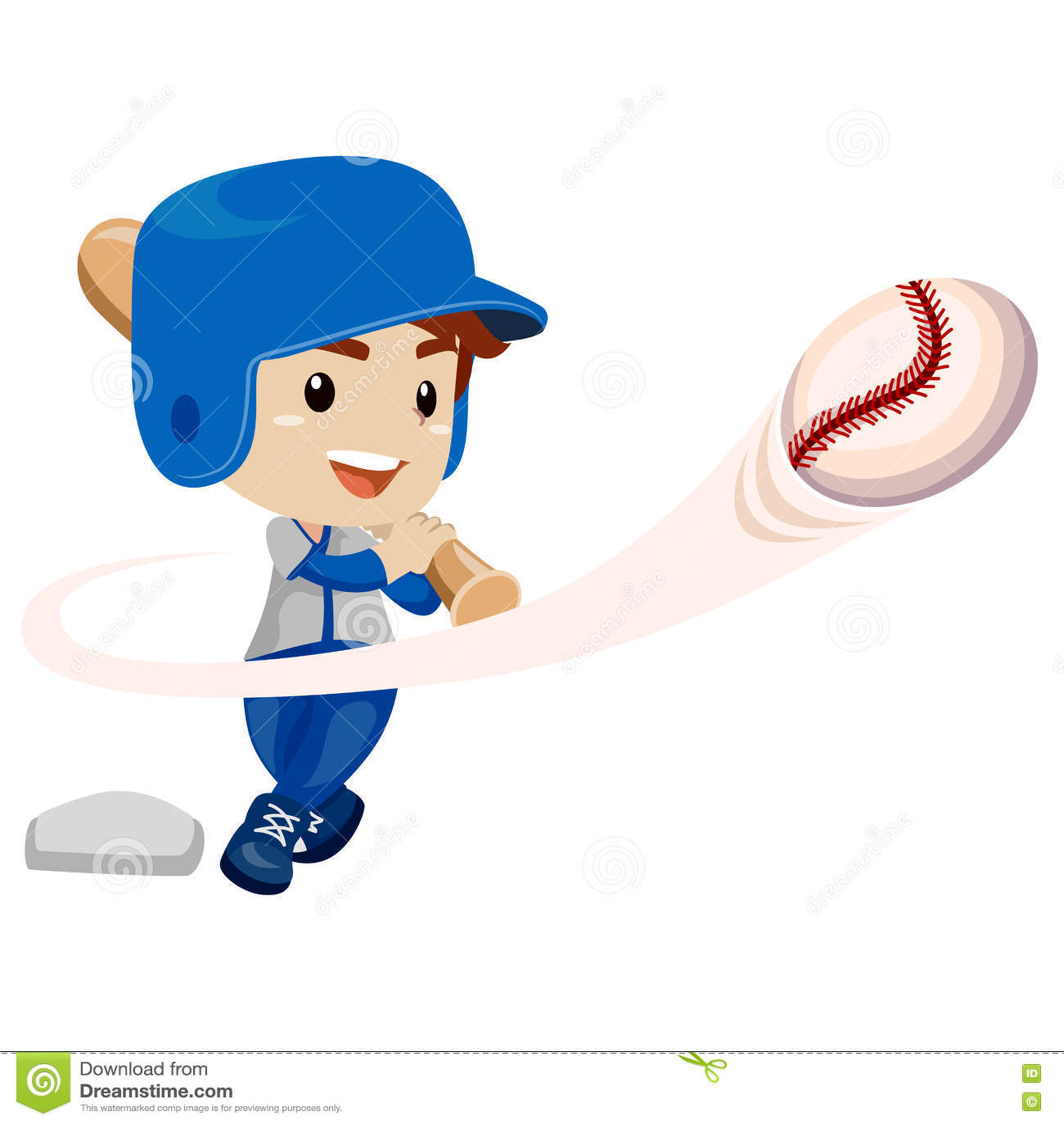 baseball player kid boy hit the ball stock vector illustration of rh dreamstime com Baseball Vector Logo Baseball Heart Vector