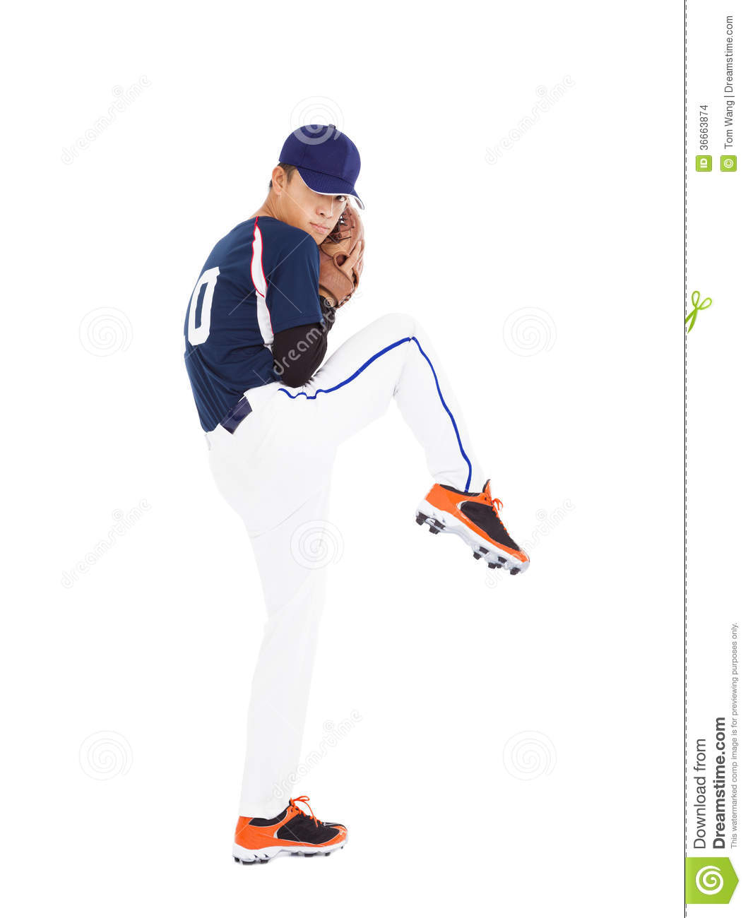 Baseball Player Pitcher Ready Pose Throwing Ball Stock Images - Image ...