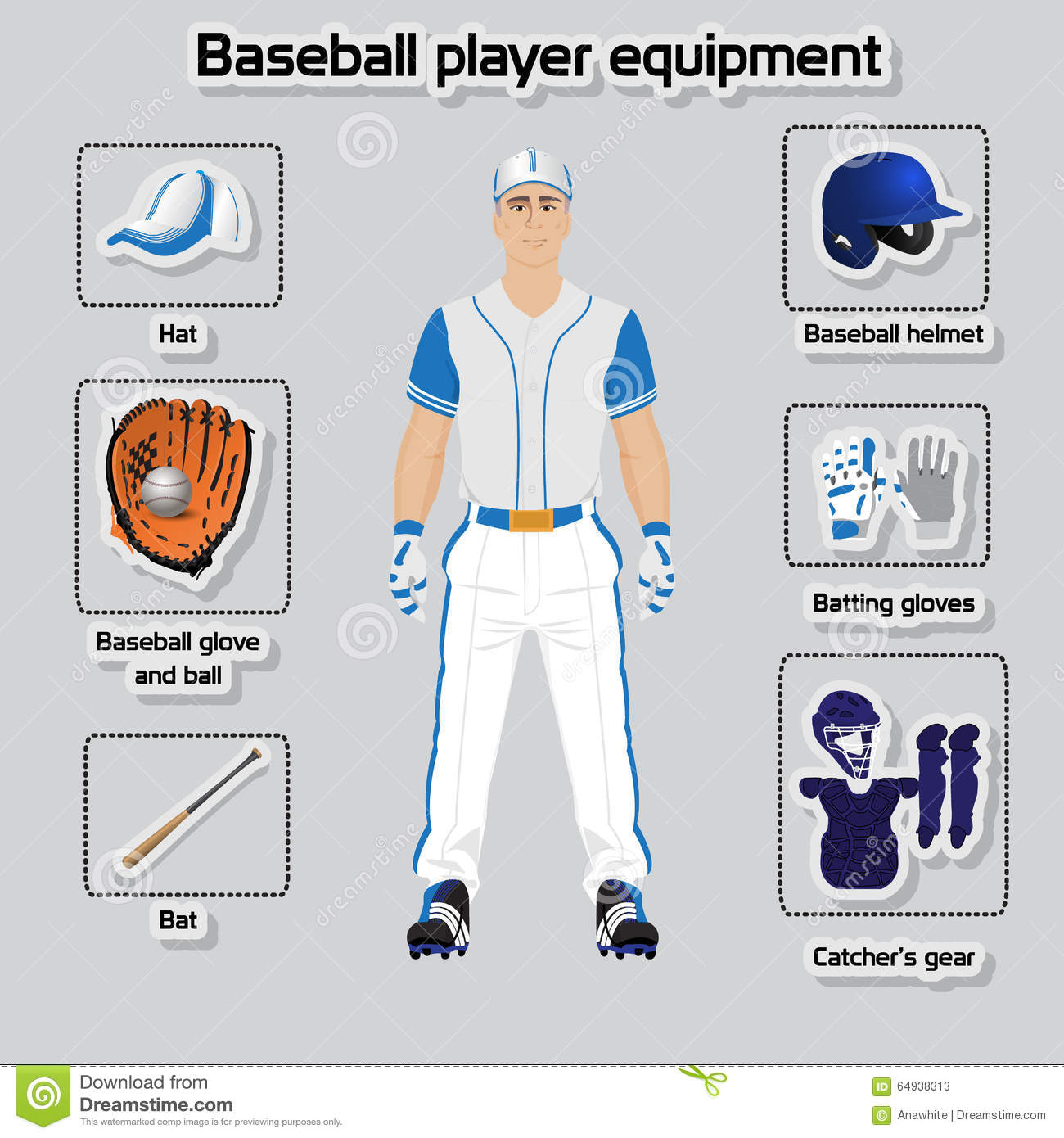 baseball player uniform and equipment stock vector football players vector files football players vector images