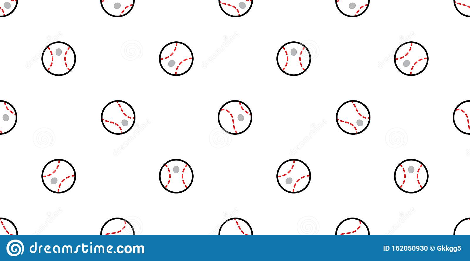 Pattern For Sport Wallpaper: Baseball Seamless Pattern Ball Vector Softball Sport