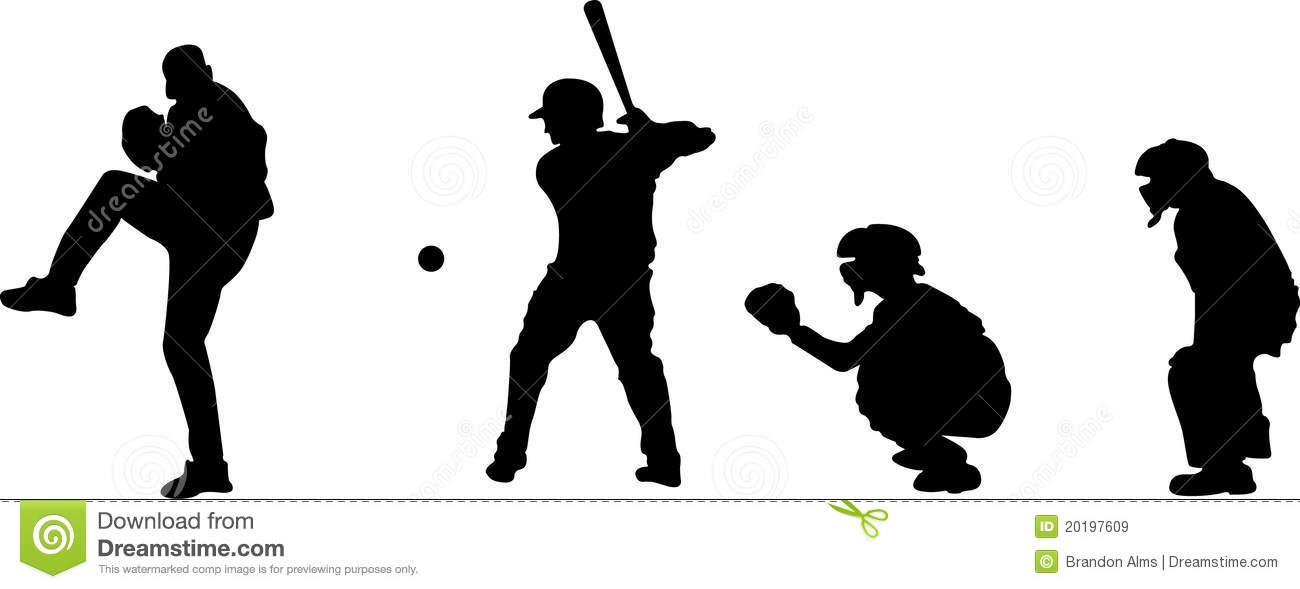 free clipart baseball player silhouette - photo #31