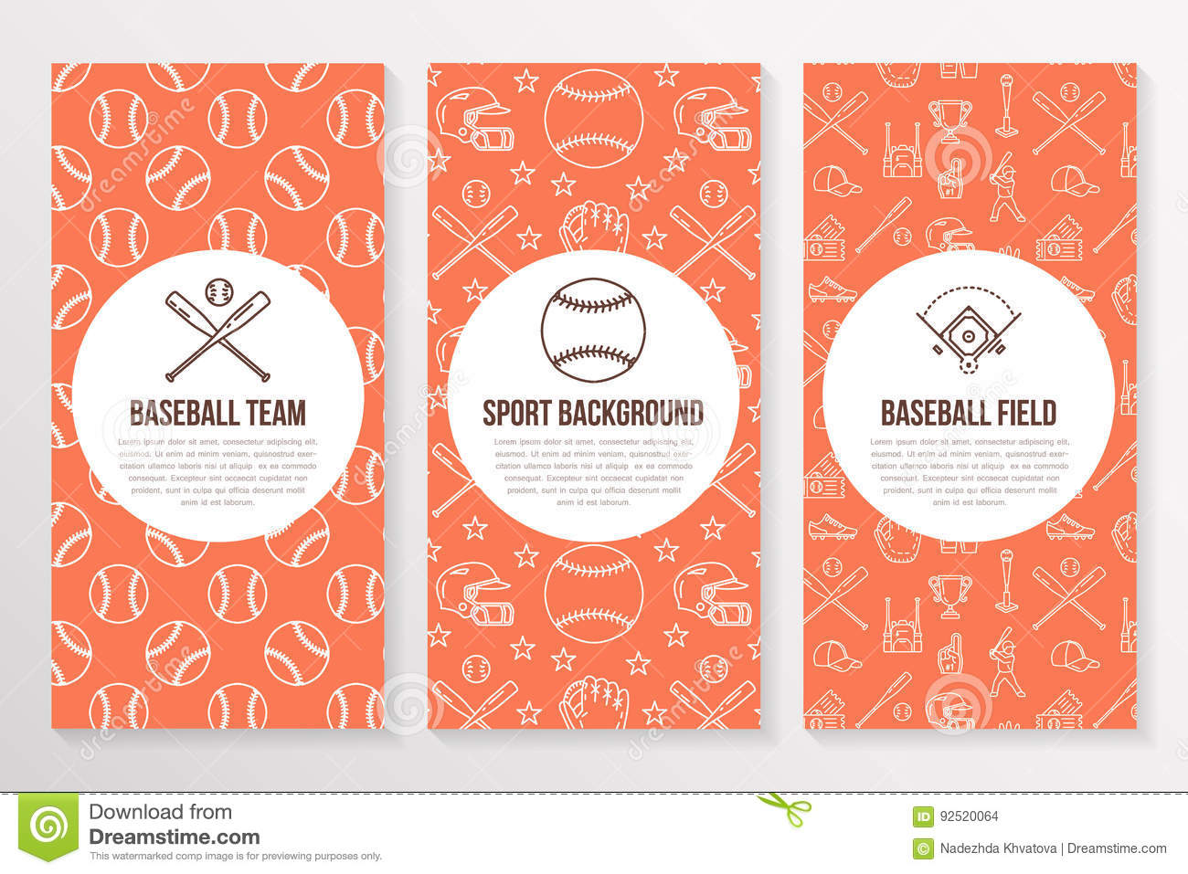 baseball brochure template - baseball softball sport game brochure template flyer