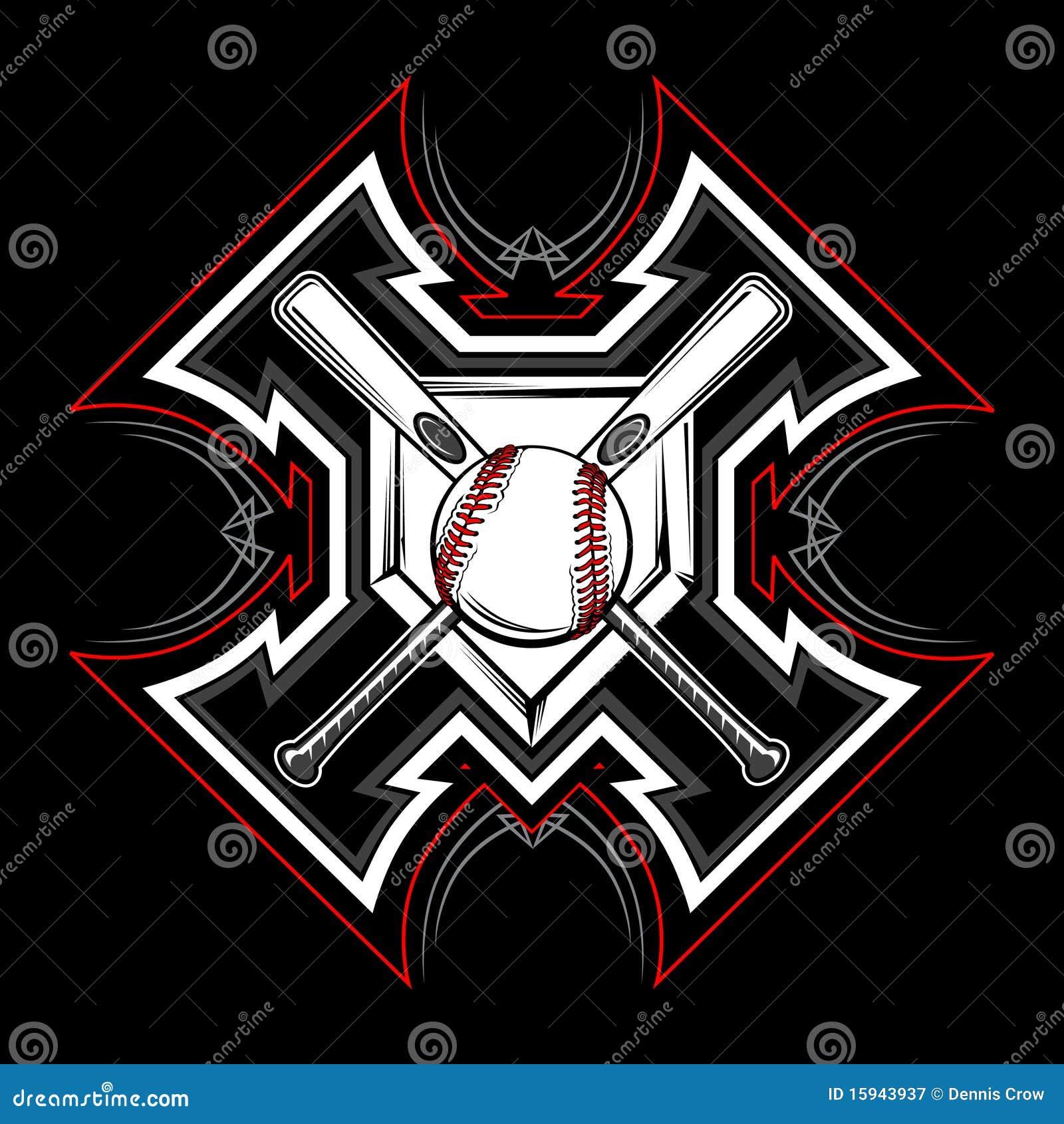 Baseball Softball Tribal Vector Image Royalty Free Stock Photography