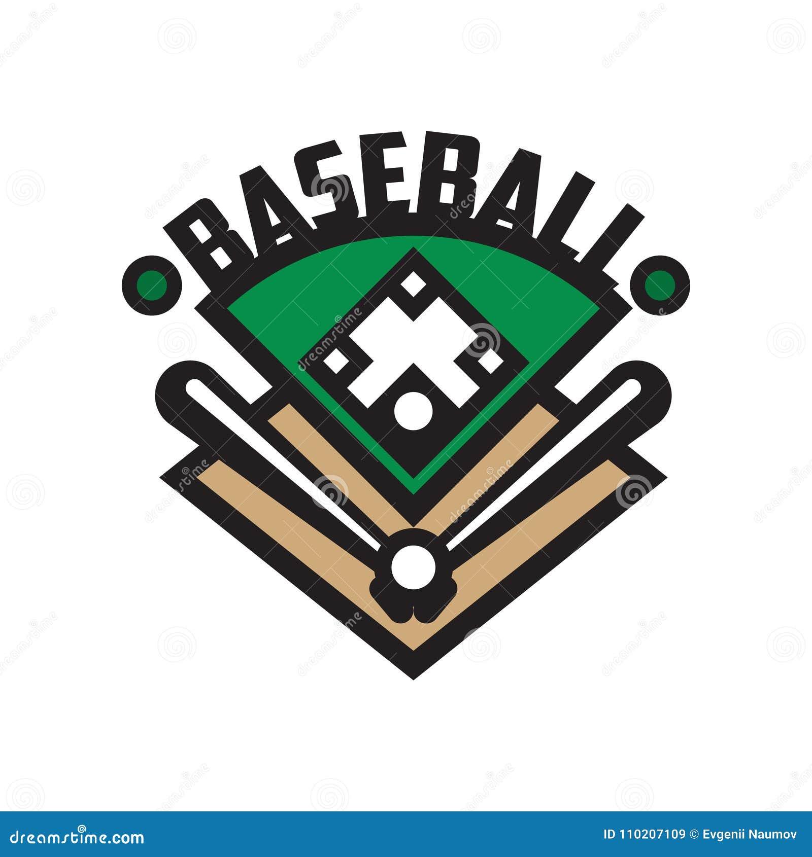 Baseball Sport Logo Template Design Element For Badge Banner Emblem Label