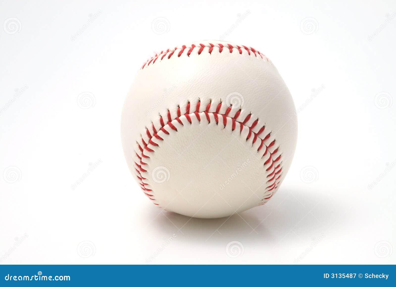 Baseball su una priorità bassa bianca