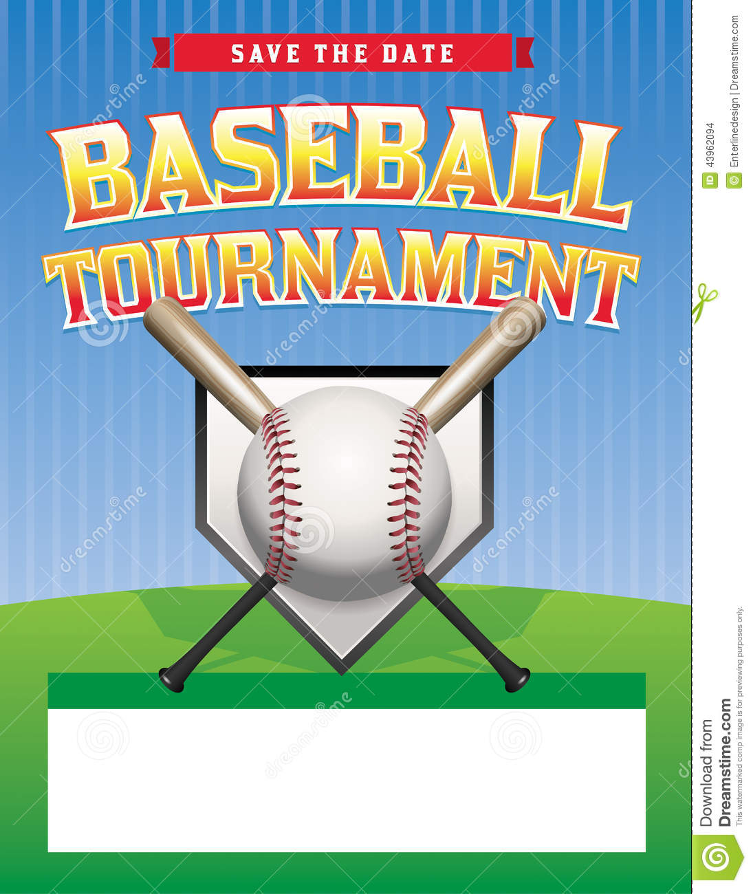 baseball tournament illustration stock vector illustration of